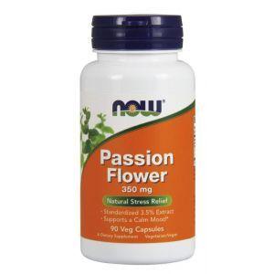 Страстоцвет (экстракт цветов), Passion Flower, Now Foods, 350 мг, 90 ка