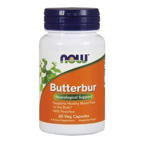 Белокопытник лекарственный, Пиретрум, Butterbur , Now Foods, 60 кап