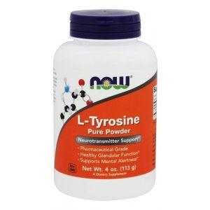 L- тирозин, L-Tyrosine, Now Foods, порошок, 113 грам