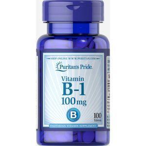 Витамин В1, Vitamin B-1, Puritan's Pride, 100 мг, 100 таблеток
