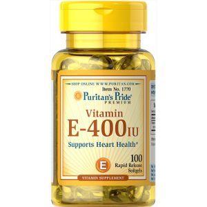 Puritan's Pride Vitamin E-400 IU - 100 Softgels