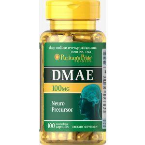 Диметиламиноэтанол, DMAE, Puritan's Pride, 100 мг, 100 капсул