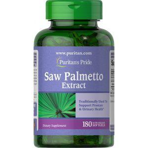 Со пальметто, Saw Palmetto Extract Puritan's Pride, 180 гелевых капсул