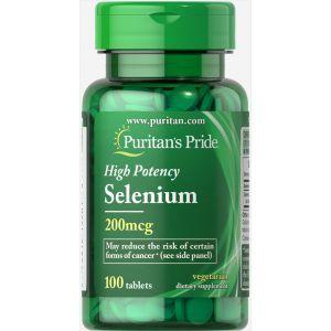 Селен, Selenium 200 mcg, Puritan's Pride, 200 мкг, 100 таблеток