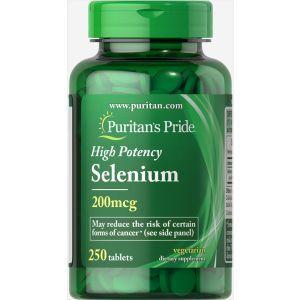 Селен, Selenium, Puritan's Pride, 200 мкг, 250 таблеток