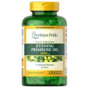 Puritan's Pride, Evening Primrose Oil 1300 mg with GLA 120