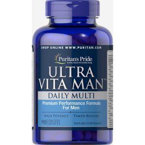 Витамины для мужчин, Ultra Vita Man Time Release, Puritan's Pride, 90 капсул