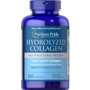Коллаген, Hydrolyzed Collagen, Puritan's Pride, 1000 мг, 180 капсул