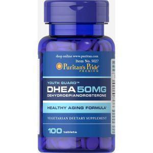 ДЭГА, DHEA, Puritan's Pride, 50 мг, 100 таблеток