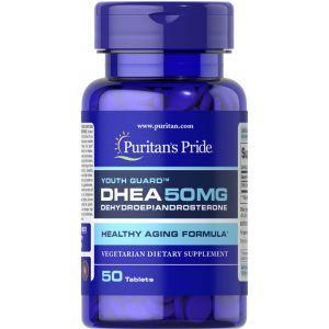 ДЭГА, DHEA, Puritan's Pride, 50 мг, 50 таблеток