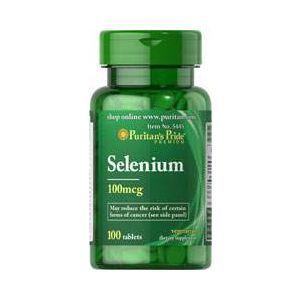 Селен, Selenium 100 mcg, Puritan's Pride, 100 мкг, 100 таблеток