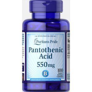 Пантотеновая кислота, Pantothenic Acid, Puritan's Pride, 550 мг, 60 капсул