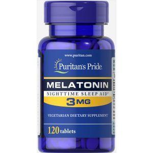 Мелатонин, Melatonin 3 mg, Puritan's Pride, 120 таблеток