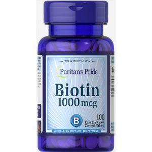 Биотин, Biotin, Puritan's Pride, 1000 мг, 100 таблеток