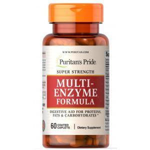 Мульти энзимы, Super Strength Multi Enzyme, Puritan's Pride, 60 капсул