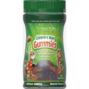 Мультивитамины и минералы для детей, Children's Multivitamins and Mineral, Puritan's Pride, 120 жевательных конфет