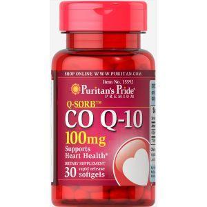 Коэнзим Q-10, Q-SORB™ Co Q-10, Puritan's Pride, 100 мг, 30 капсул