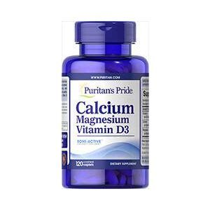 Puritan's Pride, Calcium Magnesium with Vitamin D, 120  Caplets