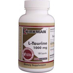 L- таурин, Kirkman Labs, 1000 мг, 100 капсул