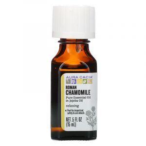 Масло ромашки, расслабляющее (Roman Chamomile), Aura Cacia, Pure Essential Oils, 15 мл (Default)