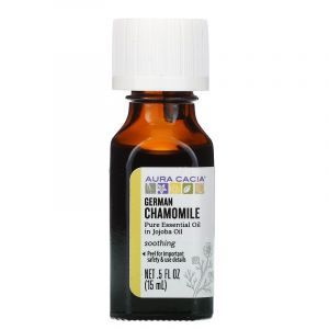 Ромашка аптечна в маслі жожоба (Chamomile, Jojoba Oil), Aura Cacia, 15 мл