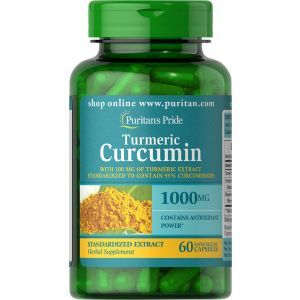 Puritan's Pride, Turmeric Curcumin 1000 mg with Bioperine 5 mg, 60