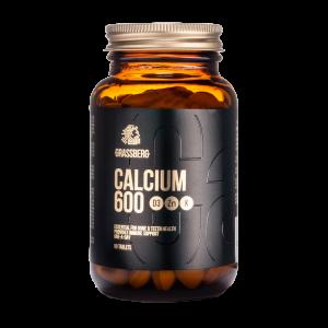 Кальций з витаминами D3, K1 и цинком, Calcium 600, Grassberg, 90 таблеток
