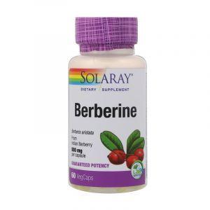 Берберин, Berberine, Solaray, 500 мг, 60 вегетариальных капсул