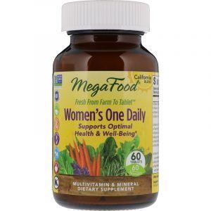 Витамины для женщин, Womens One Daily, MegaFood, 60 таблеток