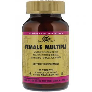 Витамины для женщин, Female Multiple, Solgar, 60 таблеток (Default)