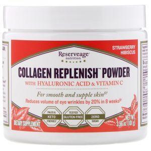 Коллаген, Collagen Replenish Powder, ReserveAge Nutrition, 101 г (Default)