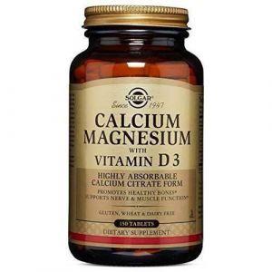 Кальций и магний с витамином Д3, Calcium Magnesium D3, Solgar, 150 таблеток (Default)