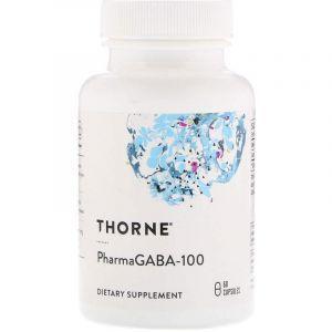 Гамма-аминомасляная кислота, PharmaGABA-100, Thorne Research, 60 кап. (Default)