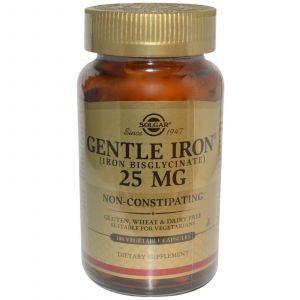 Железо, Solgar, 25 мг, 180 капсул
