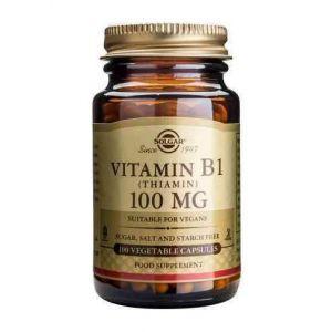 Тиамин, Solgar, Витамин В1, 100 мг,100 капсул