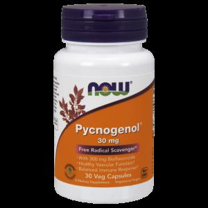 Пикногенол, Pycnogenol, Now Foods, 30 мг, 30 капсул.