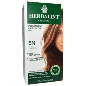 Краска для волос, Herbatint, 5N, светлый-каштан, 135 мл.