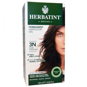Краска для волос, Herbatint, 3N, темный-каштан, 135 мл.