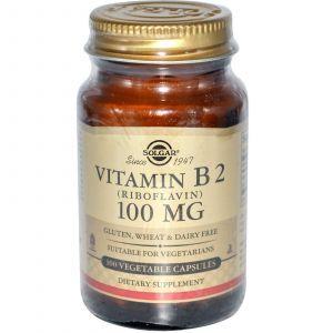 Рибофлавин, Solgar, 100 мг, 100 капсу