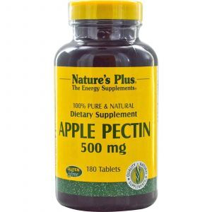 Яблочный пектин, Nature's Plus, 500 мг, 180 табле