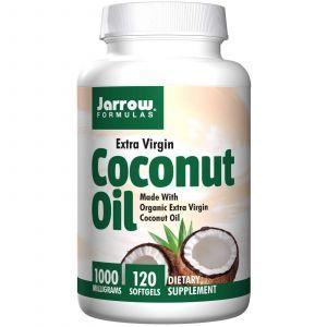 Кокосовое масло, Coconut Oil, Jarrow Formulas, 1000 мг, 120 капсул