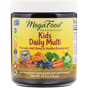 Мультивитамины для детей (Kids Daily Multi), MegaFood, несладкий, 49.8 г (Default)