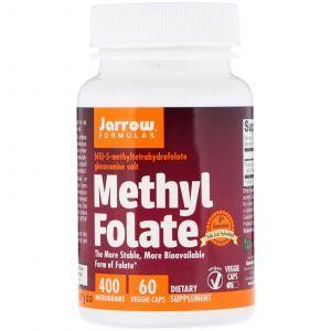 Метилфолат, Methyl Folate, Jarrow Formulas, 400 мкг, 60 капсул (Default)