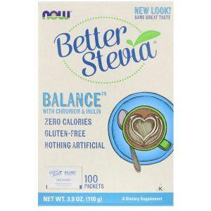 Стевия, ноль калорий, Stevia, Now Foods, 100 пакетов (Default)
