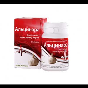 Альцинара, Борщаговский ХФЗ, для снижения уровня холестерина, в контейнере, 60 таблеток