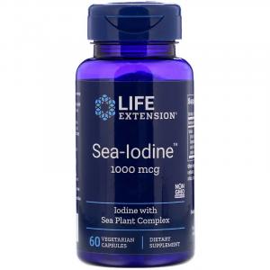Йод, Sea-Iodine, Life Extension, 1000 мкг, 60 капсул (Default)