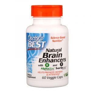Витамины для мозга с GPC и PS, Brain Enhancers, Doctor's Best, 60 капсул (Default)