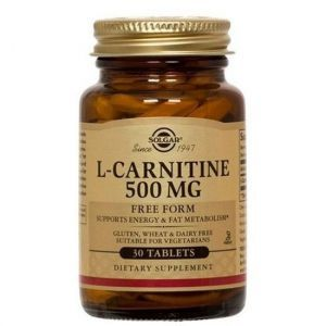 Карнитин (L-Carnitine), Solgar, 500 мг, 30 таблеток (Default)