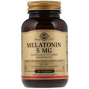 Мелатонин, Melatonin, Solgar, 5 мг, 120 жевательных таблеток (Default)