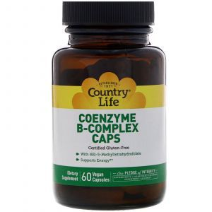 Витамин В, комплекс, (Coenzyme B-Complex), Country Life, 60 капсул (Default)